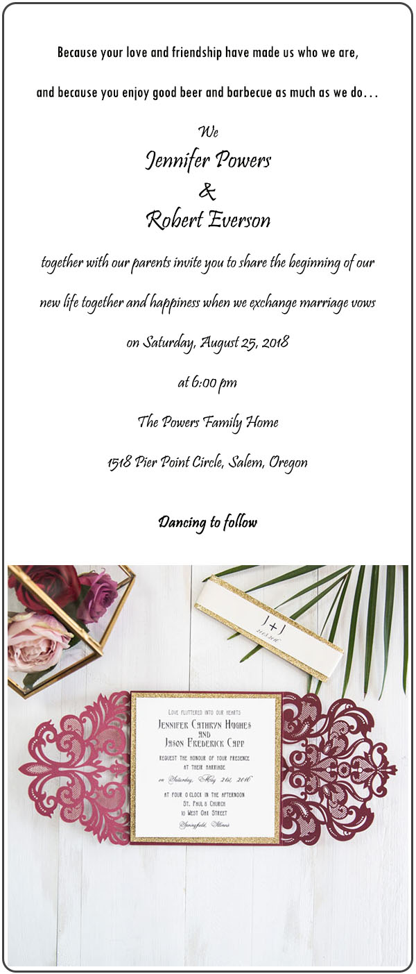 fall burgundy laser cut wedding invitations with gold glittery belly band EWWS180