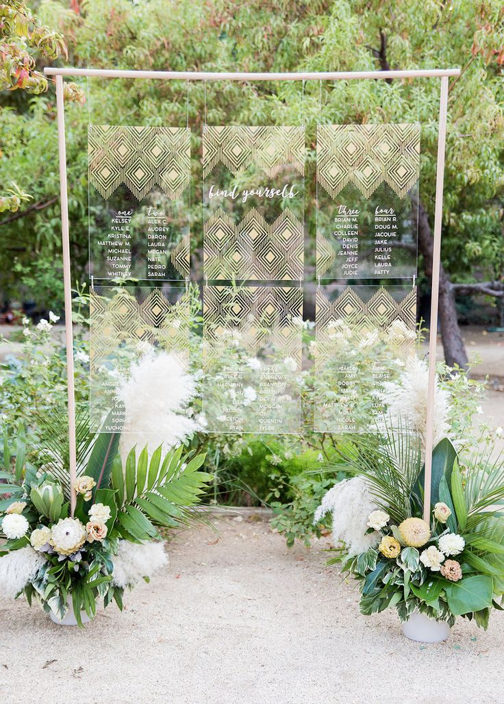 Acrylic modern wedding seating chart ideas
