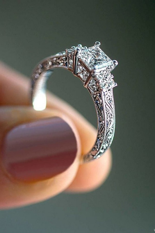 Brilliant Antique Diamond Engagement Ring