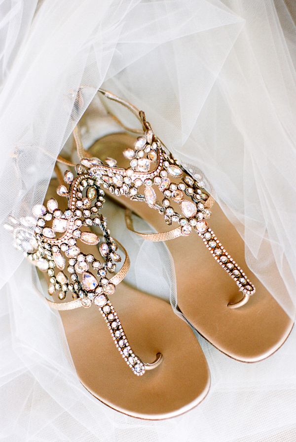 Comfortable embellished bridal sandal wedding shoes