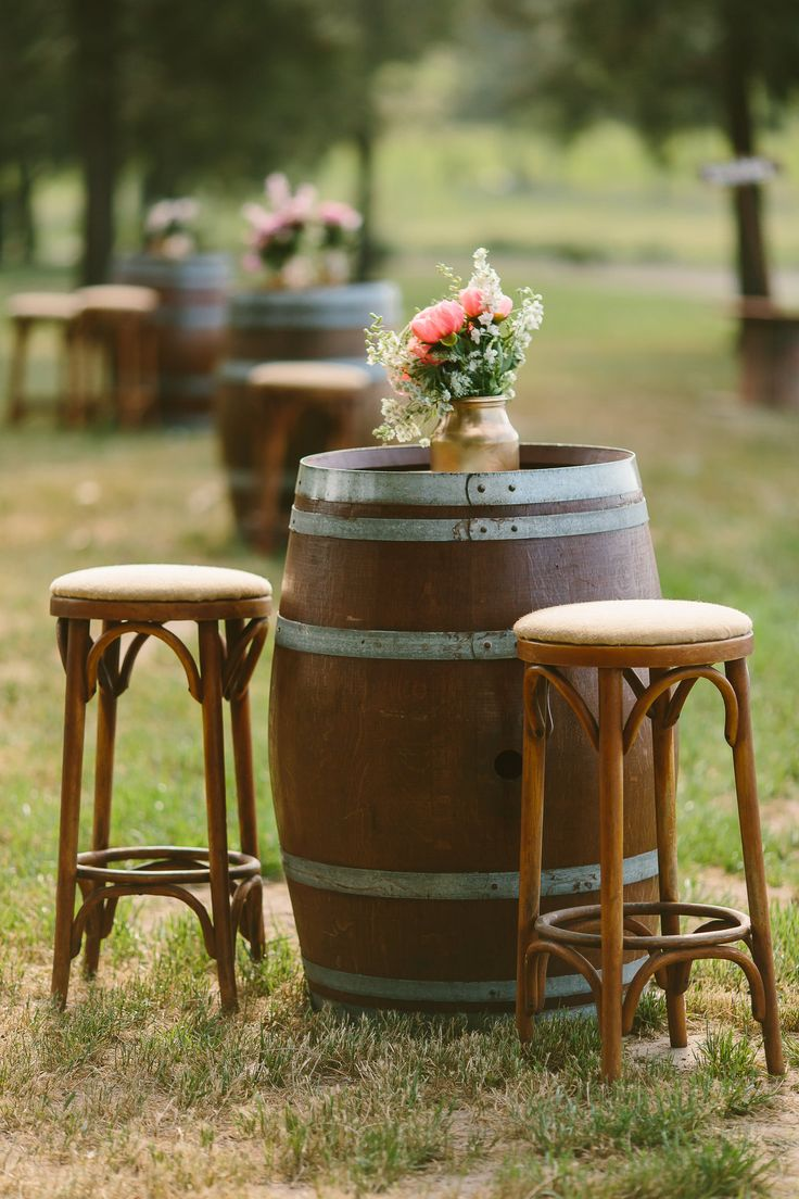 Creative rustic wooden barrel wedding ideas