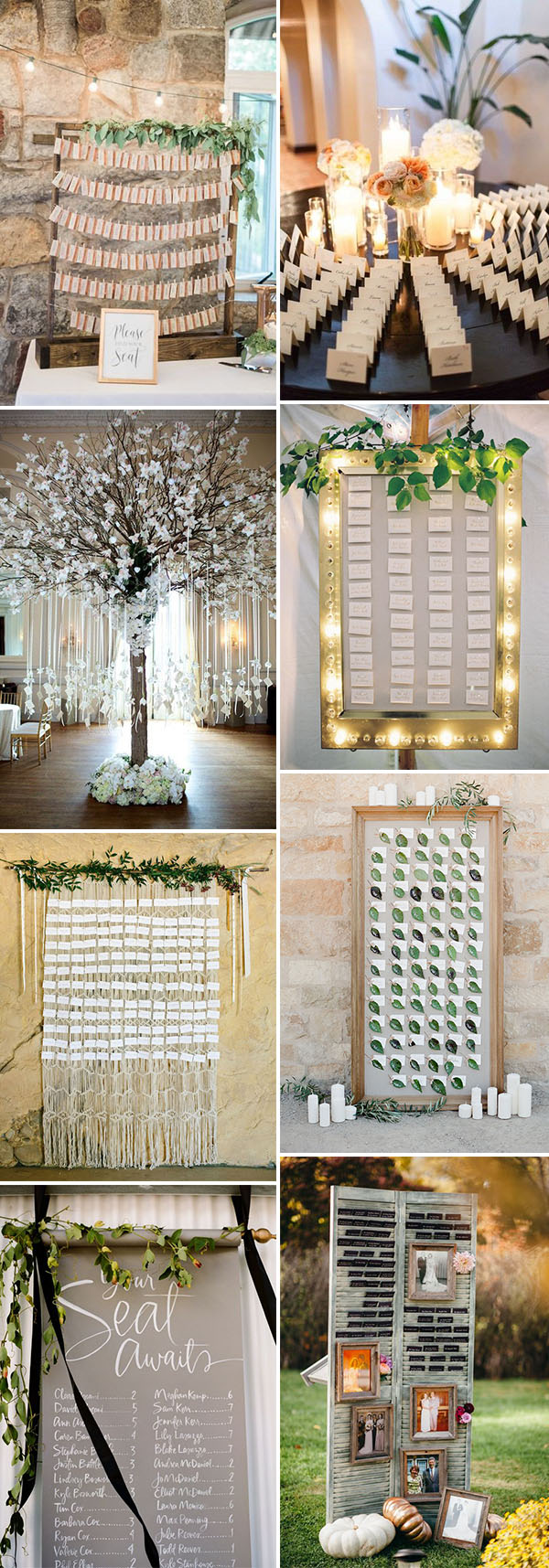 10 Chic Ideas to Display Your Wedding Seating Chart & Escort Cards