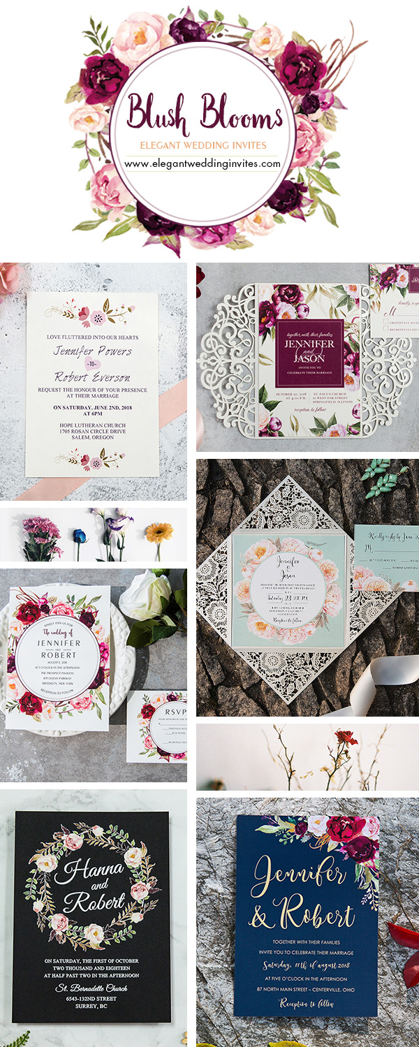 Floral Spring Summer Wedding Invitation Ideas