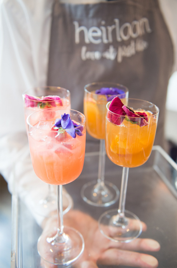 Fun Edible Organic Flower Garnish Wedding Drinks