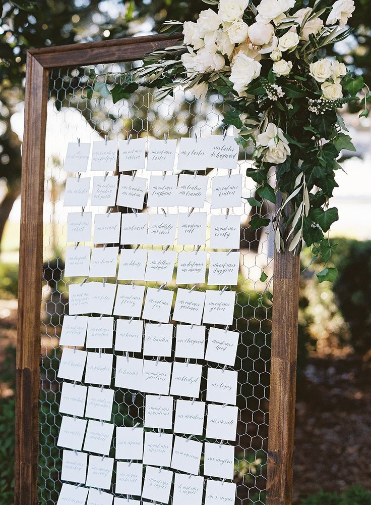 Gorgeous garden inspired escort card display wedding ideas
