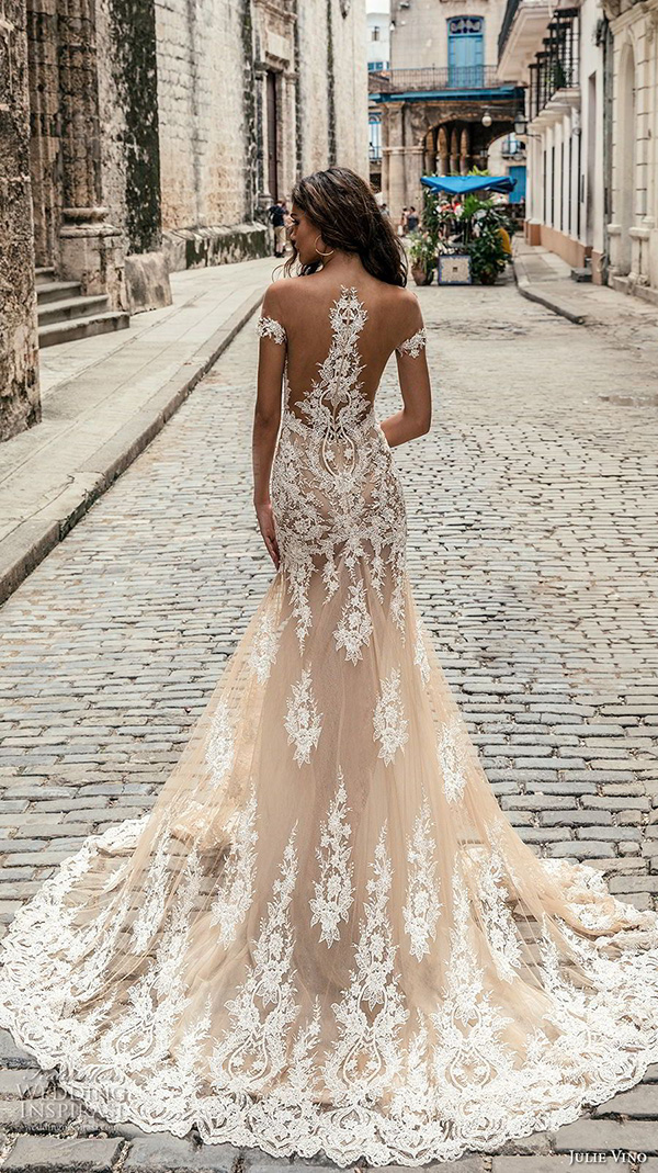 23 stunning wedding dresses for 2018 elegantweddinginvites blog julie vino fall 2018 blush color wedding dress junglespirit Images