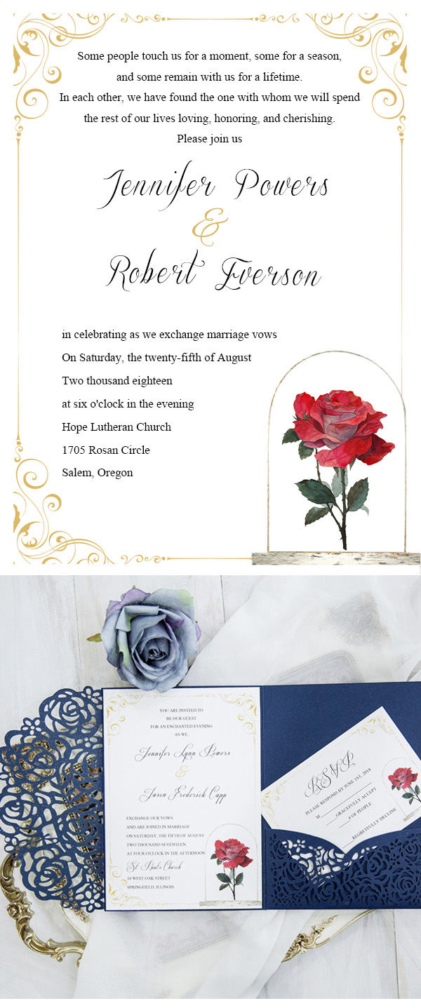 New Ideas And Inspirations For Wedding Invitation Wording