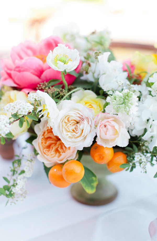 Pretty Spring Wedding Centerpieces Bursting with Color
