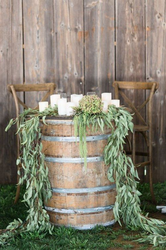 Trending rustic country wine barrel wedding ideas