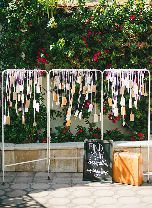 creative diy wedding escort card wedding ideas for backyard weddings