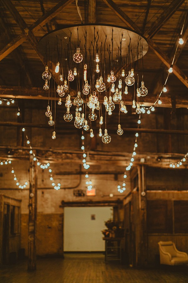 edison blubs rustic wedding chandelier