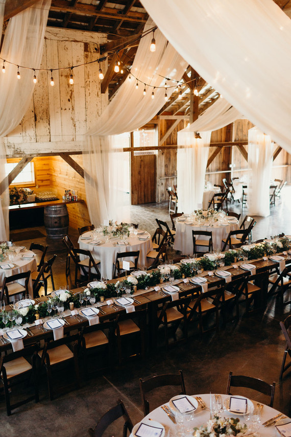 elegant barn wedding ceremony ideas