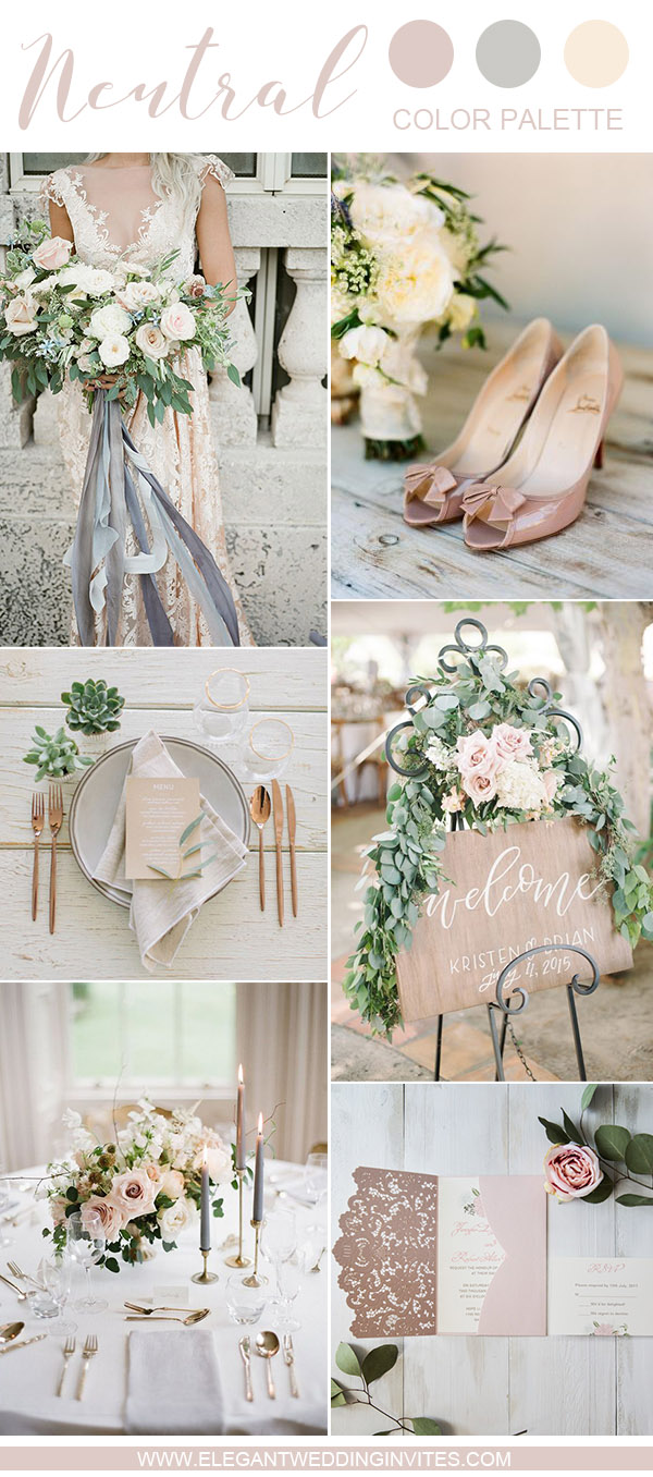 10 Swoon-Worthy Neutral Wedding Color Palette Ideas ...