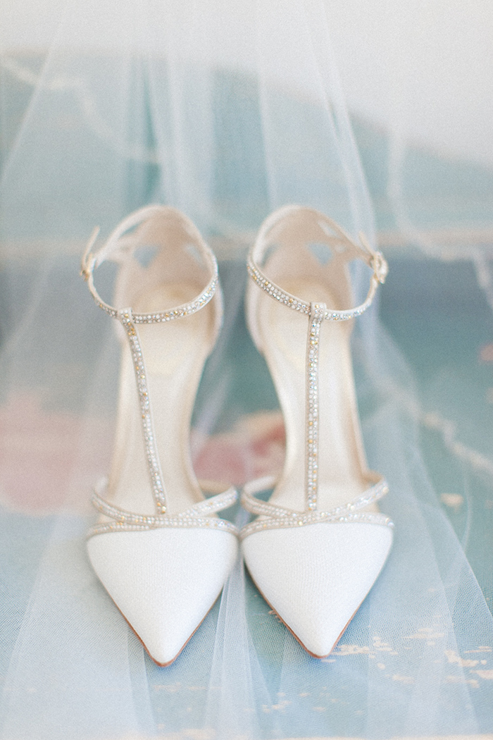 stylish white bling wedding shoes ideas for all brides