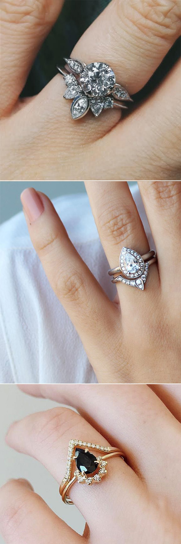unique engagement rings for lovley brides