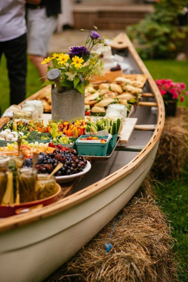 Awesome Canoe Dessert Display Wedding Ideas