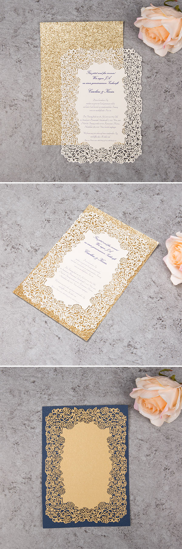 DIY invitation ideas of adding backer card to your wedding invitations