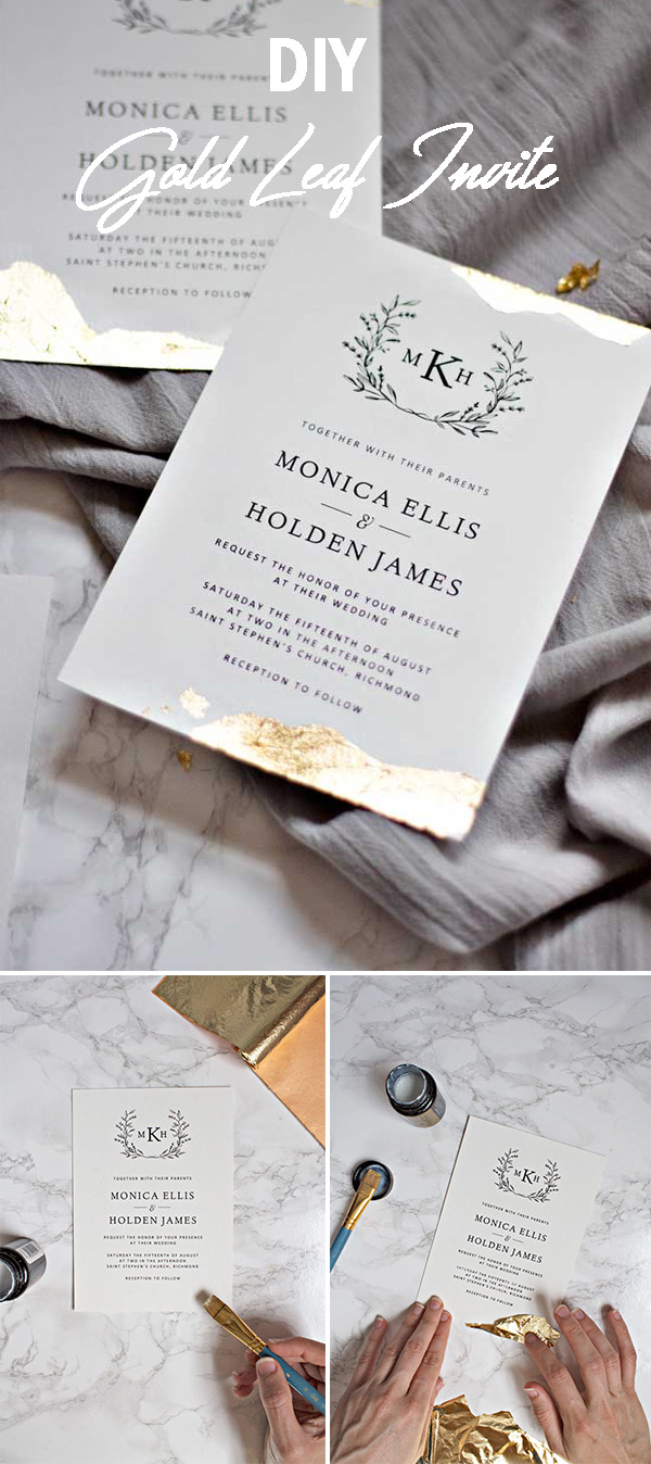 Useful DIY Ideas for Crafty Brides: Adding Shimmer to Your Invitations