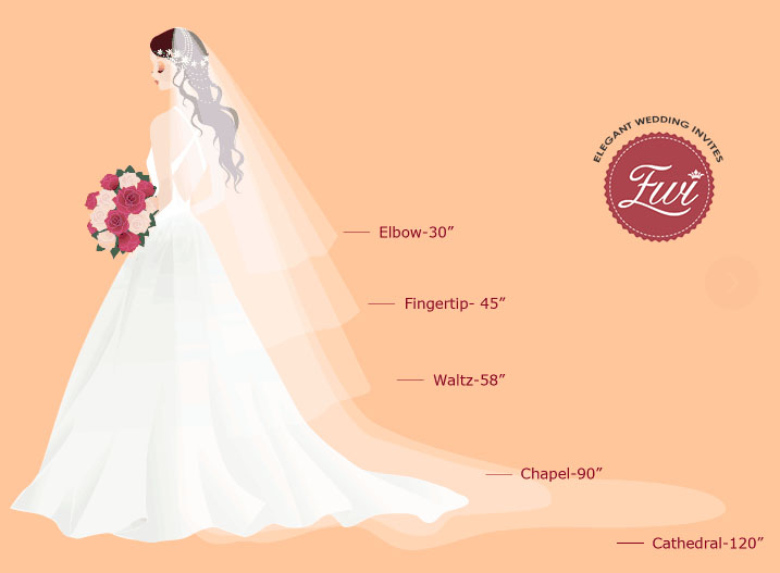 Elegant Wedding Invites Bridal Veils