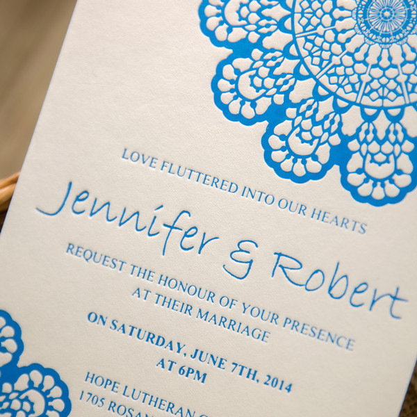 Letterpress printing for wedding invitations