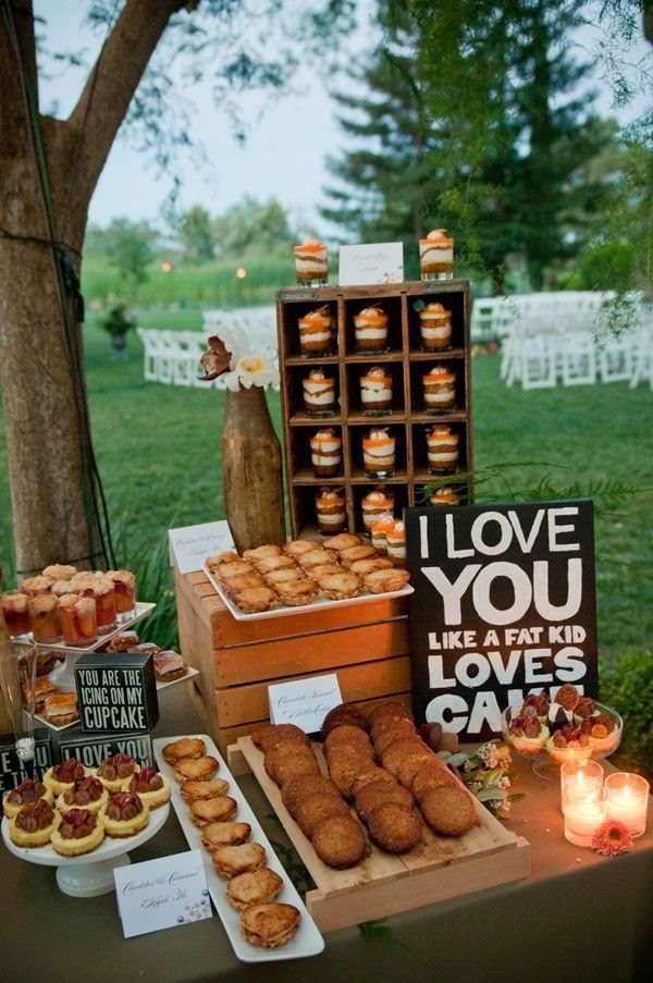 Rustic Country Wedding Dessert Crate Display