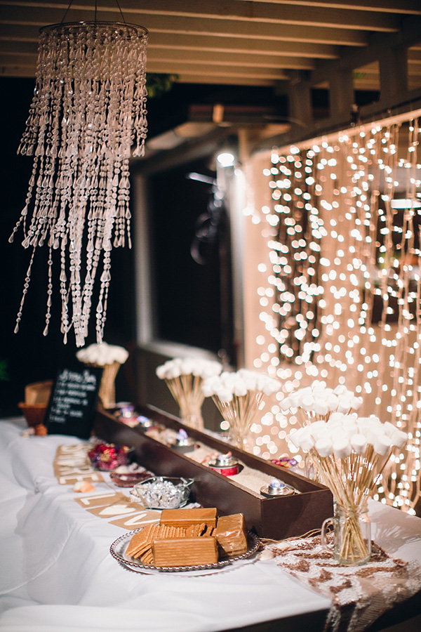 Sweet S'mores Bar Wedding Food Station Ideas