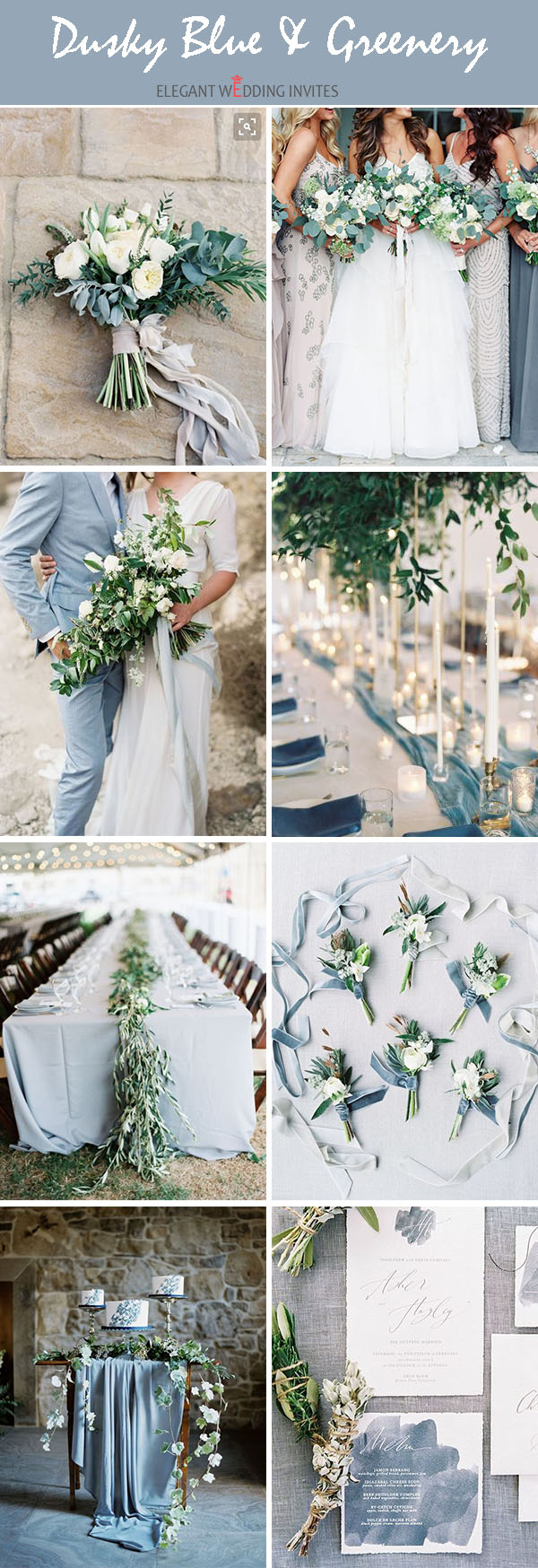 dusky blues neutral shades organic wedding color palette ideas for all seasons
