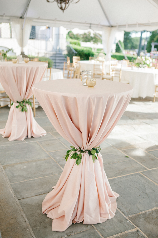 must-have blush pink cocktail wedding table ideas