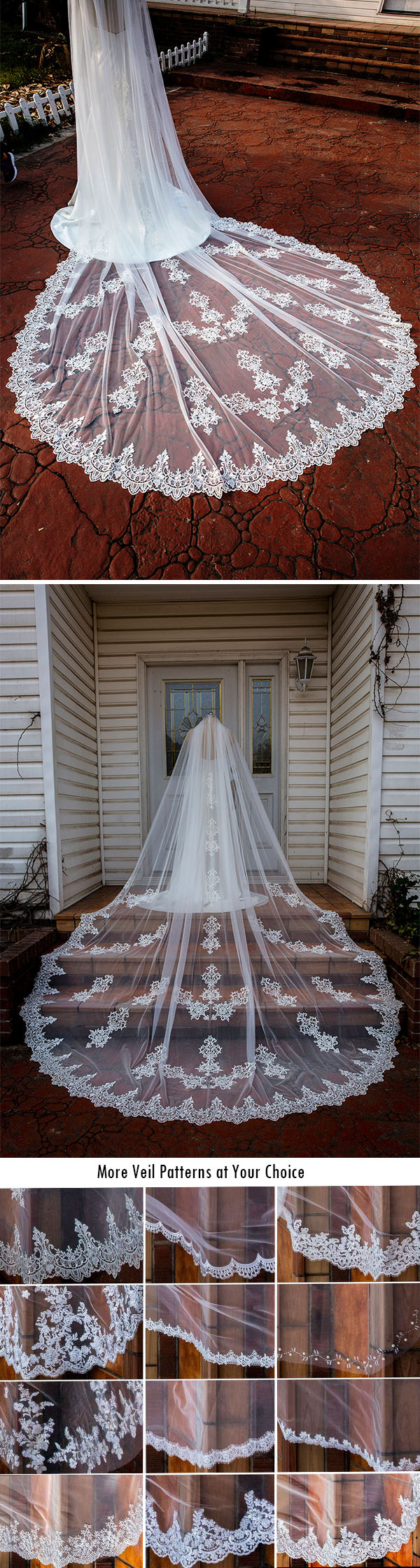 pretty wedding bridal veils