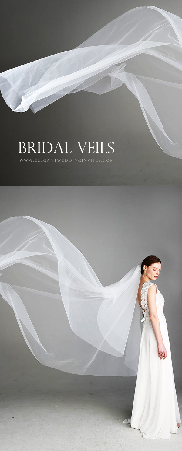 shop bridal veils at Elegant Wedding Invites