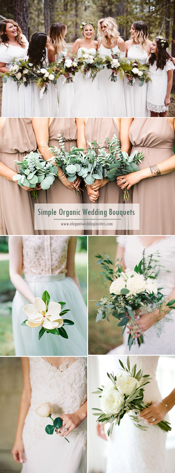 simple organic wedding bouquets