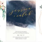 The Coolest Watercolor Wedding Invitations of Different Styles