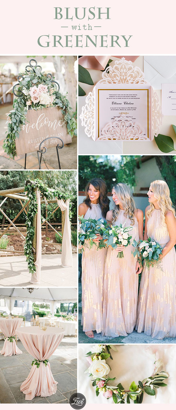 trending blush and greenery wedding color ideas for 2018