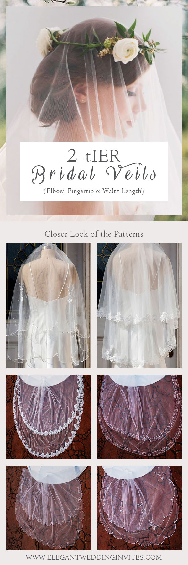 two-tier wedding bridal veils