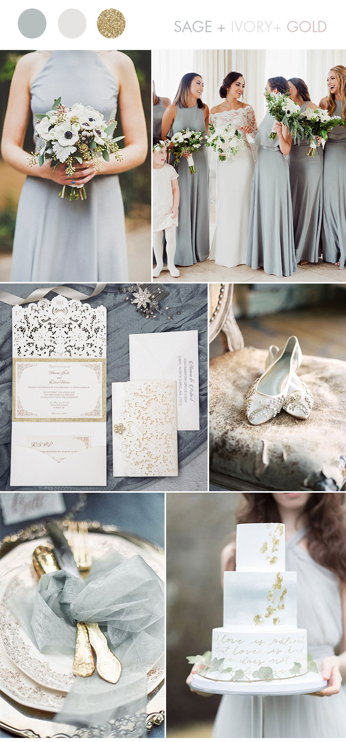 Wedding Ideas: Silver & Gold Invitations from Elegant ...