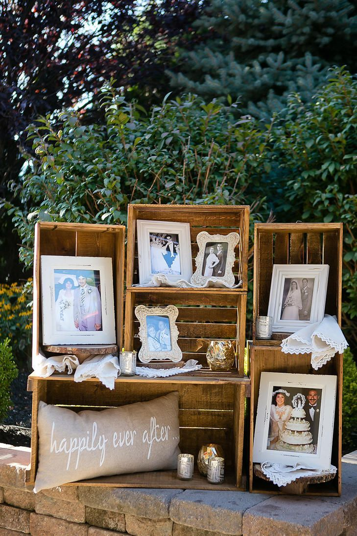 amazing ideas to display photos on your wedding day