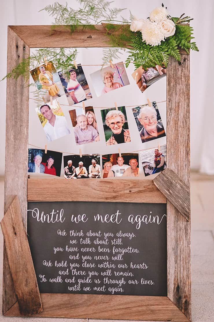 creative country wedding photo display ideas