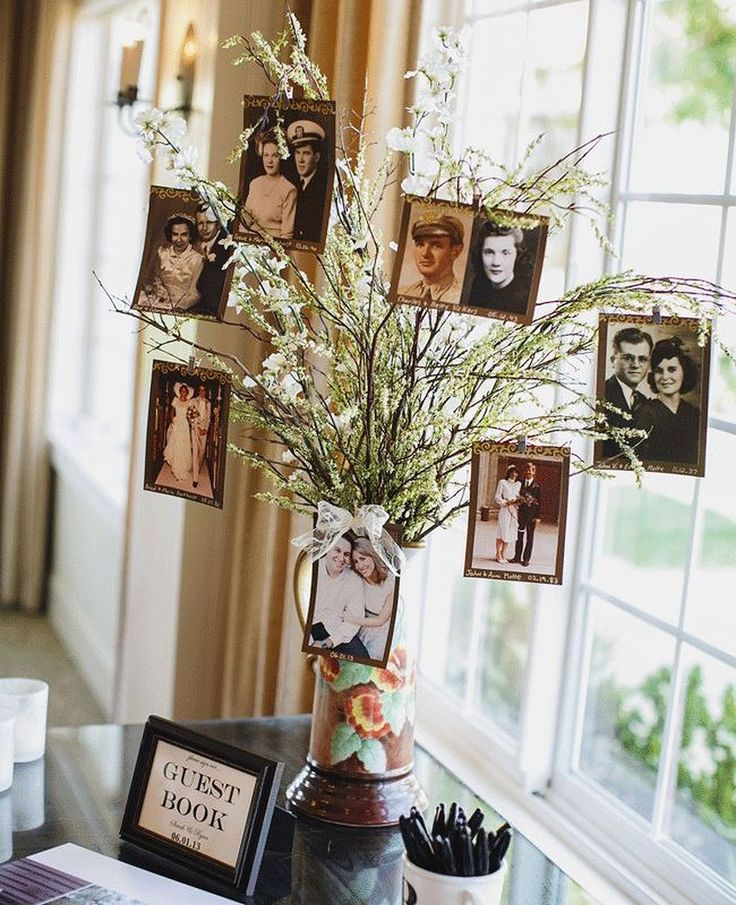 lovely wedding photo dispaly tree ideas
