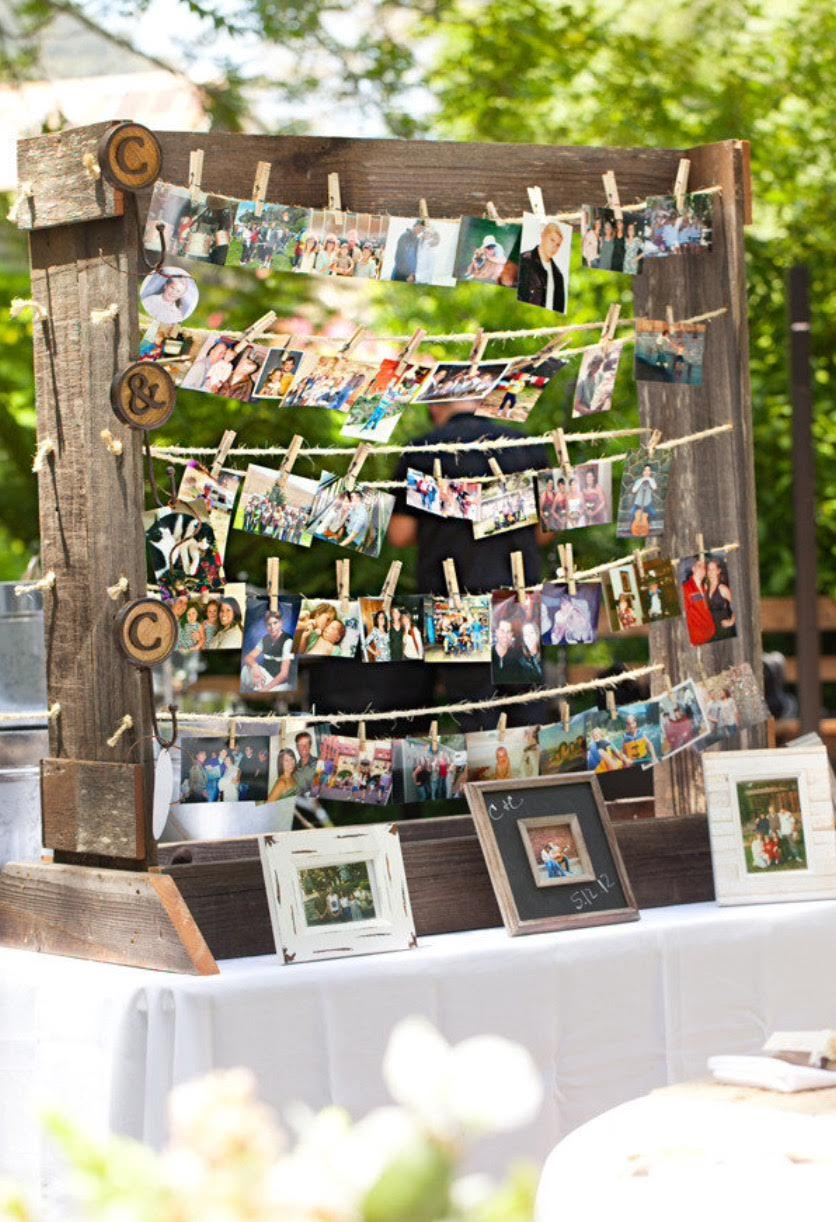 romantic wedding photo display ideas for brides to try