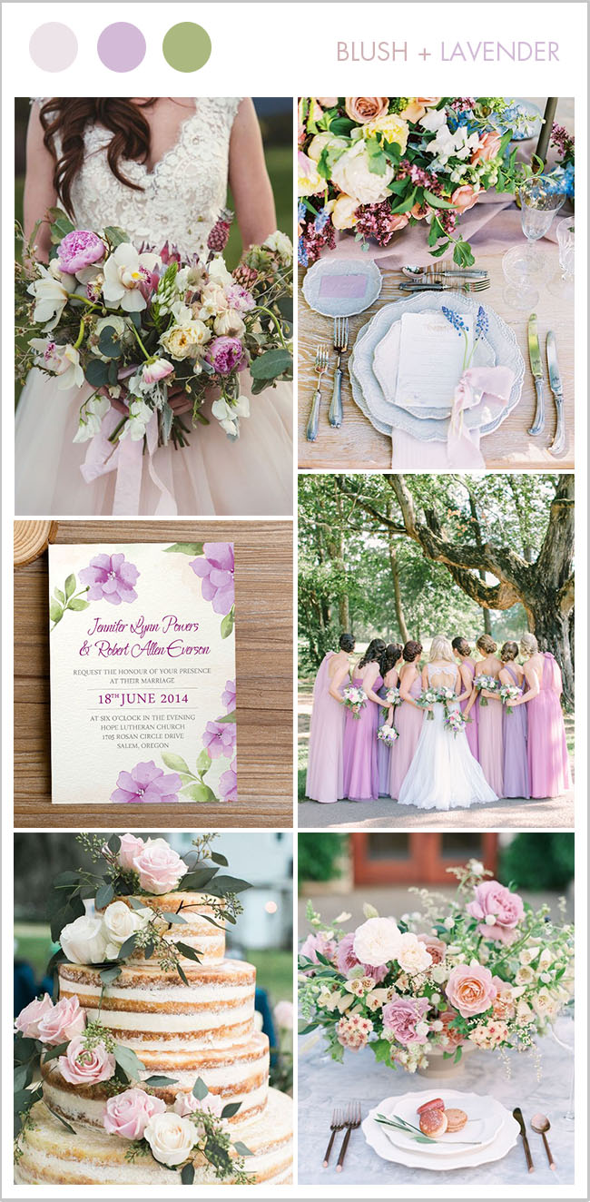 summer time blush and lavender lovely princess wedding colors