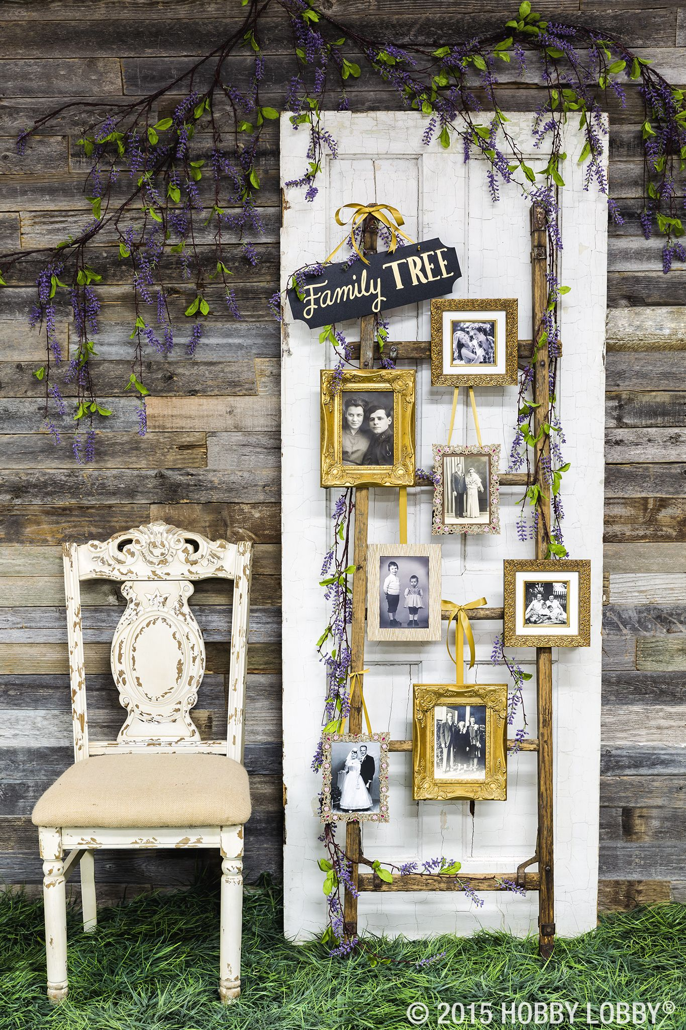 vintage style family photos display wedding ideas