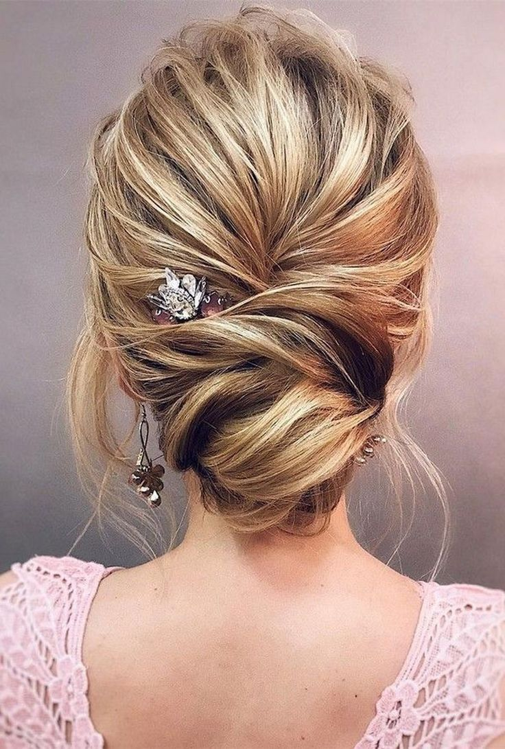 Gorgeous bun wedding updo hairstyle to inspire you