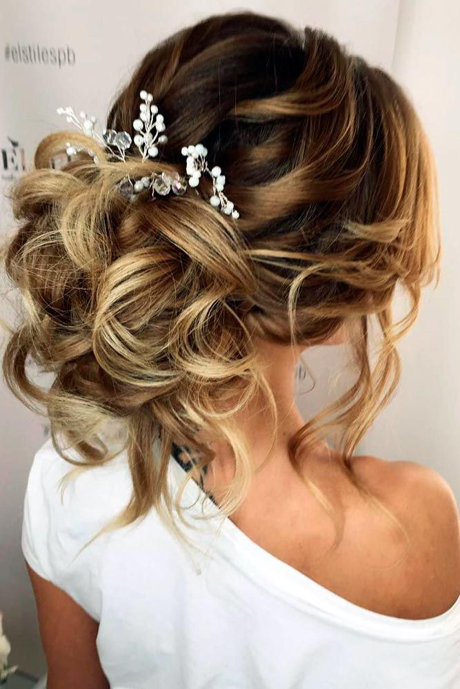 Messy Updo Hairstyle for Your Wedding Day