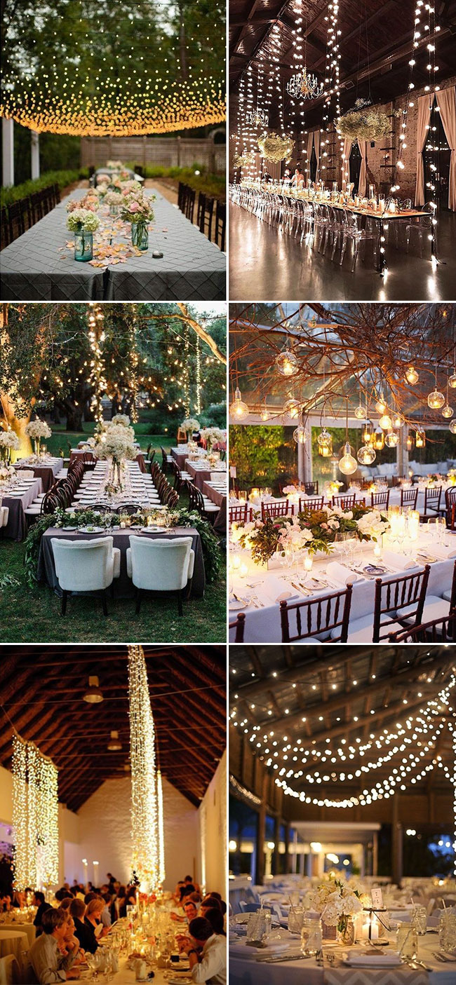 Stunning wedding reception lighting decoration ideas