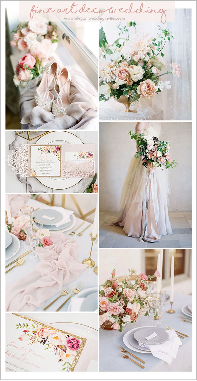 blush and glitter gold romantic fine art wedding color ideas