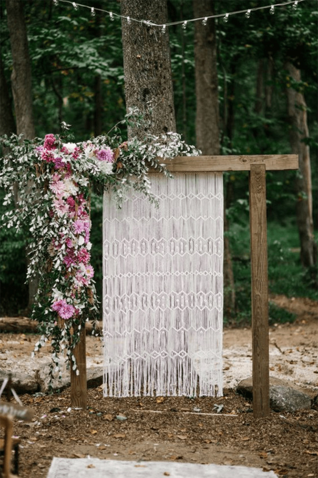 bohemian rustic wedding ceremony ideas