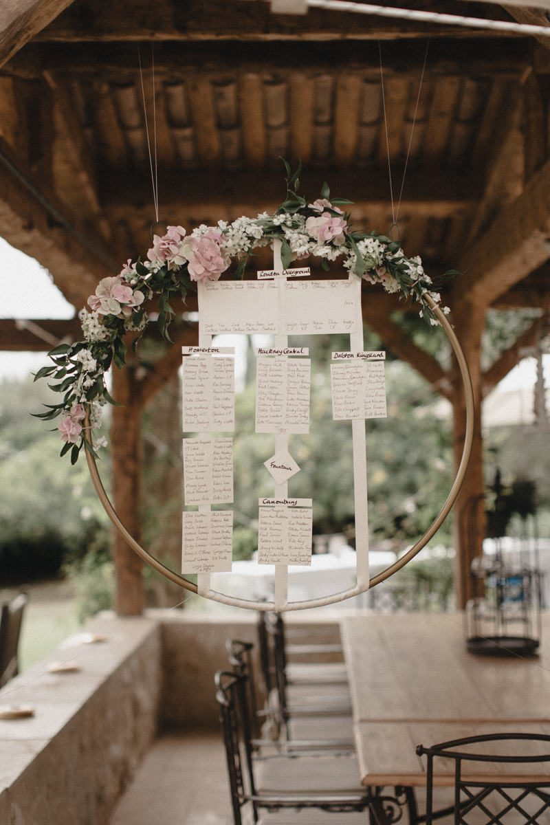 creative diy wedding wreath wedding seating char ideas