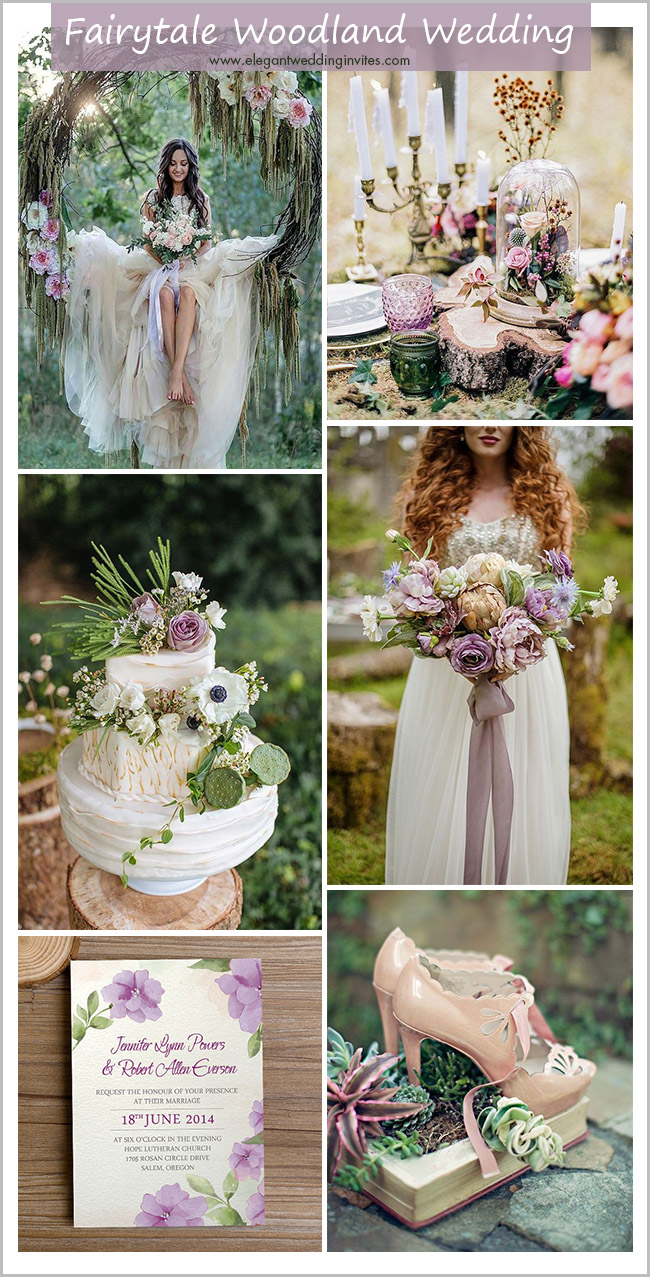 enchanted fairytale woodland and forest wedding colors