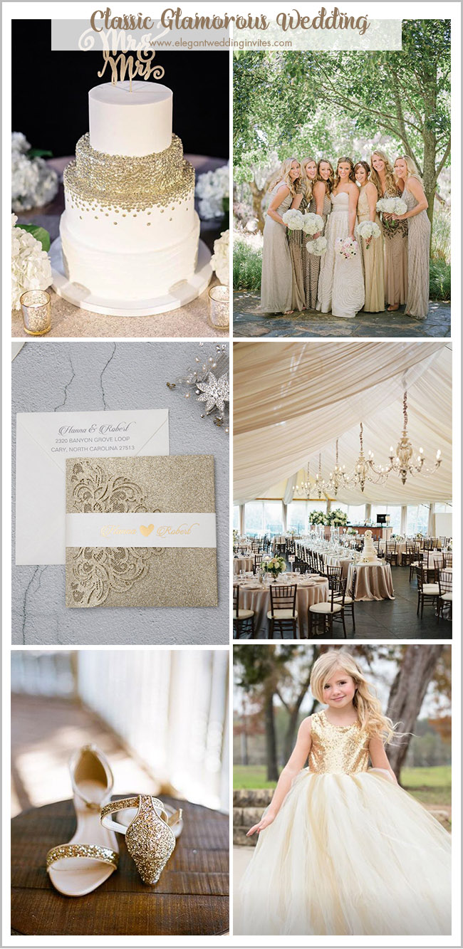 gorgeous elegant classic champagne gold wedding colors