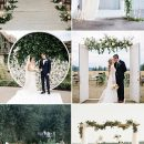Trending-Organic Inspired White and Greenery Wedding Ideas
